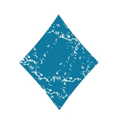 Diamonds grunge icon vector