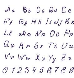 Alphabet ink vector