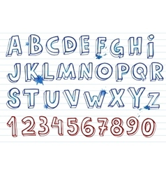 Hand drawing alphabet vector