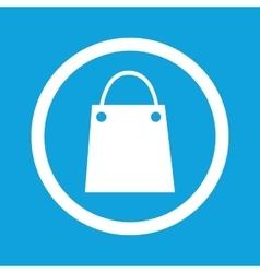 Shopping bag sign icon vector