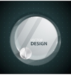 Transparent glass circle vector