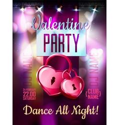 Disco valentine background disco poster vector