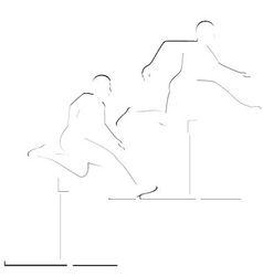 Running hurdles vector