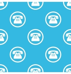 Phone sign blue pattern vector