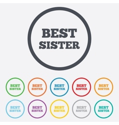 Best sister sign icon award symbol vector