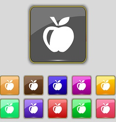 Apple icon sign set with eleven colored buttons vector