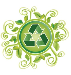 Recycle foliage vector