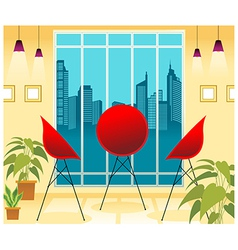 Lounge cityscape view vector