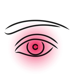 Eye pain vector