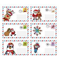 Envelope to send letter to santa claus vector