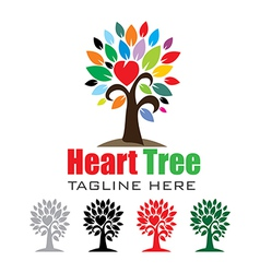 Heart tree logo vector