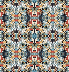 Seamless colored abstract pattern vector