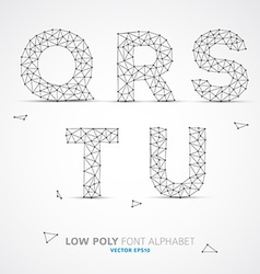 Low poly alphabet font vector