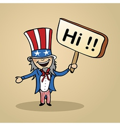 Hello from usa people vector