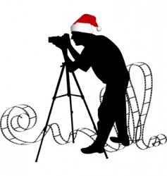 photographers silhouette vector