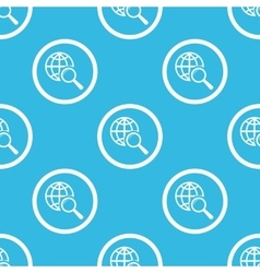 Global search sign blue pattern vector