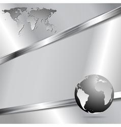 Modern metallic technology design vector