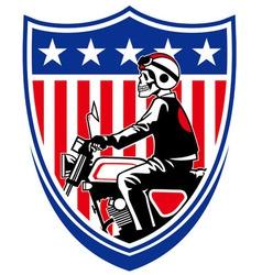 American biker vector