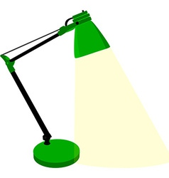 Green table lamp vector