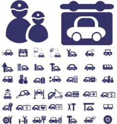 Auto signs vector