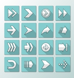 Flat icons - arrows vector