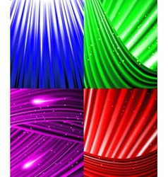 Set of background colourful luminous rays vector