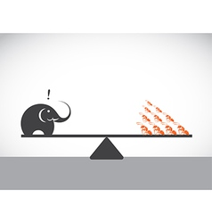 Elephant and ant vector