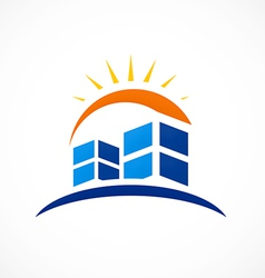 Abstract city building logo vector