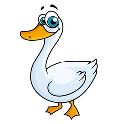 Cartoon goose with big eyes vector