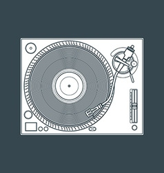 Solid color vinyl turntable device vector