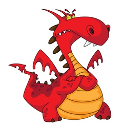 Red dragon vector