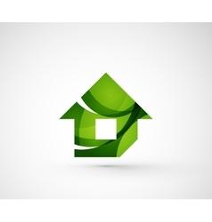 Abstract geometric company logo home house vector