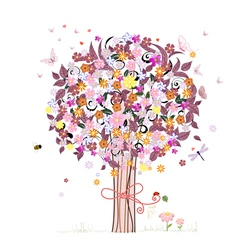 Festive romantic tree vector