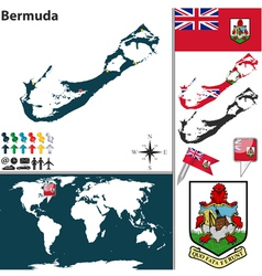 Bermuda map world vector