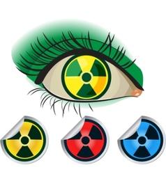 Radioactive icons vector