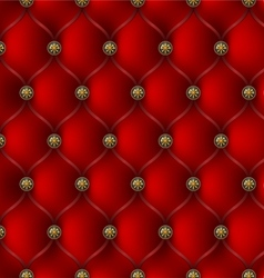 Red leather upholstery vector