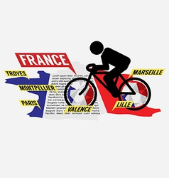 Cycling in france vector
