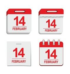 Valentine calendar icon vector