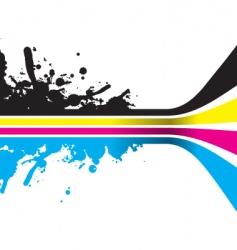 Cmyk color strips vector