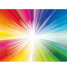 Explosion of rainbow ray lights vector