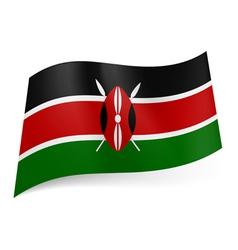 State flag of kenya vector