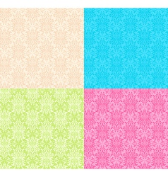 Floral multicolor seamless patterns vector
