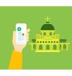Religious tourism vector