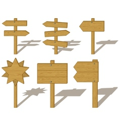 Wood billboards and signs vector
