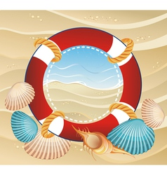 Summer icon with life buoy vector