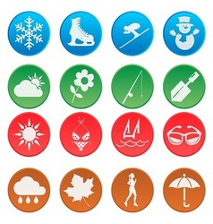 Season weather and activity icon set 1 vector