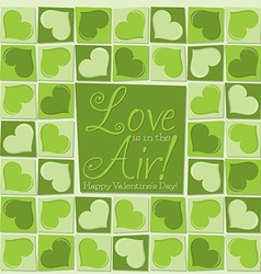 Funky mosaic love heart valentines day card in vector
