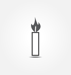 Candle icon1 vector