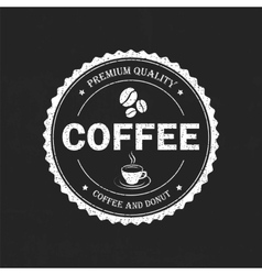 Set vintage retro coffee vector