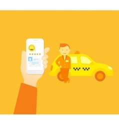 Booking taxi vector
